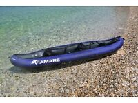 VIAMARE Kayak - inflatable 2 Man Canoe - 330 x 94 cm