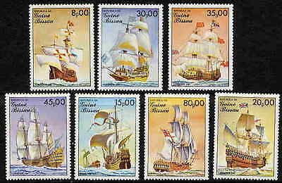 GUINEA BISSAU 1985 FAMOUS SAILING SHIP STAMPS - MINT COMPLETE SET - $8.00 VALUE