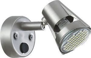 Boat Reading Light RV Fixture MR16 LED Bulb Base Satin Chrome 12v GW21500