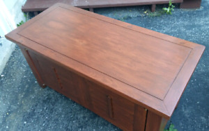Refinished Solid Wood TV Console