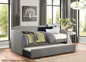 DAYBED | ALSO AVAILABLE - LOW PLATFORM BED WITH LIGHTS, MODERN COOL LOOKING LEATHER BED (MA80)