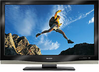 """Used Sharp AQUOS 37"""" 1080p LCD HDTV 60hz, work flawlessly"""