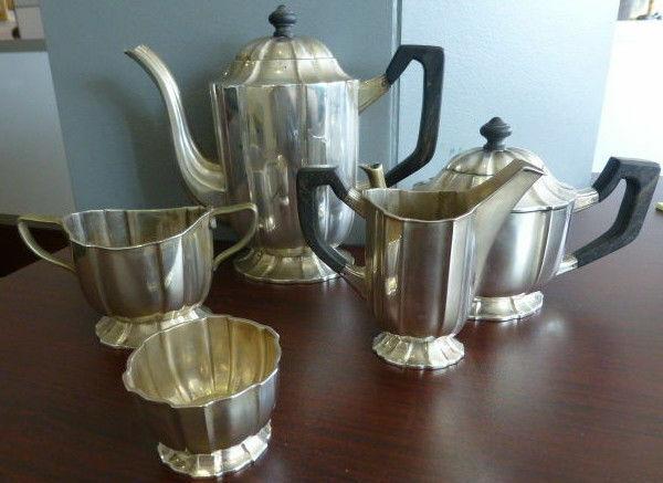Circa 1920 - 1930 Sterling Silver Tea Set - 57.25 ozt