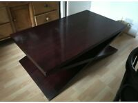 Designer solid mahogany coffee table