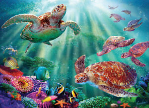 New sealed 500 pc jigsaw puzzle turtle fish