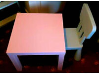 Child's table/desk and chair