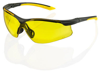 B Brand BBYSS2Y YALE Safety Eye Protection Spectacles/Glasses YELLOW Lens