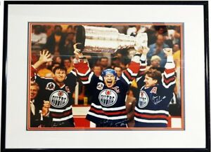 Oilers Greats Hoist 5th Stanley Cup Signed Print -BEST OFFER