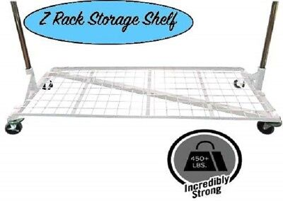 Only Hangers Bottom Shelf For Rolling Z Rack White