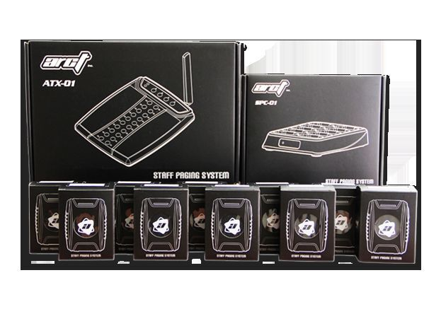Wireless Paging System Kit - 10 Pagers, Charger and Transmitter - Newest by Arct