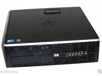 FAST HP Elite Windows 7 Pro CORE2DUO 2.9Ghz 4GB 250gb SFF Desktop PC Tower