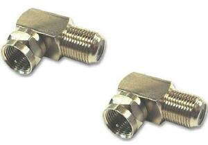 Right-Angle-TV-Aerial-F-Plug-Satellite-SKY-Virgin-Connectors-x-2
