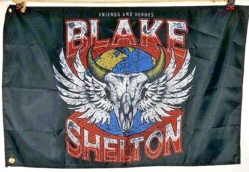 Blake Shelton Friends & Heroes 2020 Tour VIP Exclusive Merchandise Flag