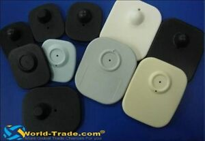 8.2 Mhz EASh Security Mini Hard Tags with Pins, Black or White