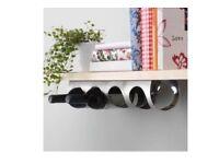 Stainless steel wall mount bottle / wine rack