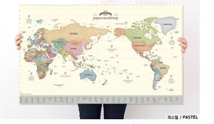 indigo paper world map - pastel - made in korea Banyo Brisbane North East Preview