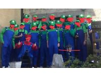 Luigi/plumbers mate costumes. Job lot - 6 outfits! Stag do halloween