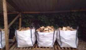 6 xSeasoned bulk bags of logs ready to burn
