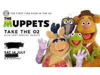 THE MUPPETS TAKE O2. 2 Tickets for the O2 Arena.