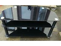 Glass tv unit & side tables