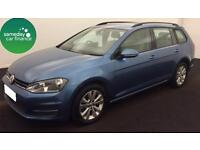 £223.01 PER MONTH BLUE 2014 VOLKSWAGEN GOLD 1.6 TDI SE 5 DOOR DIESEL MANUAL