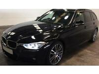 Black BMW 330 M SPORT TOURING 258 BHP 2013 FROM £84 PER WEEK!