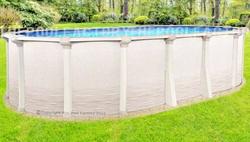 "12x24 Oval 54"" High Signature RTL Above Ground Swimming Pool with 25 Gauge Liner"