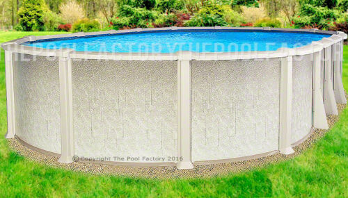 "12x24x54"" Oval Saltwater 8000 Above Ground Salt Swimming Pool W/25 Gauge Liner"