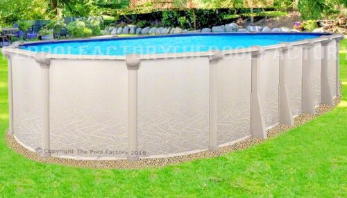 15x24x52 Oval Saltwater 5000 Above Ground Salt Swimming Pool With 25 Gauge Liner
