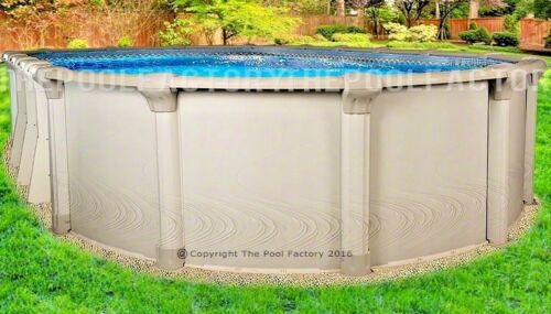 "18x33 Oval 54"" High Quest Above Ground Swimming Pool with 25 Gauge Liner"