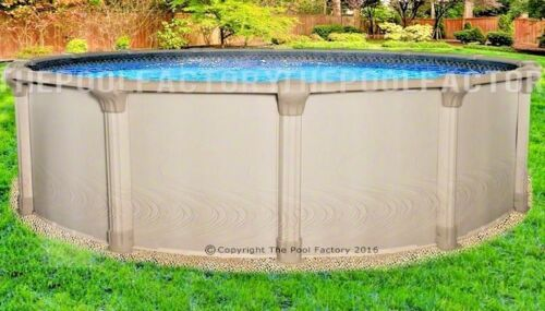 "27 Round 54"" High Quest Above Ground Swimming Pool With 25 Gauge Liner"