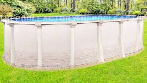 "18x33 Oval 54"" High Signature Rtl Above Ground Swimming Pool With 25 Gauge Liner"
