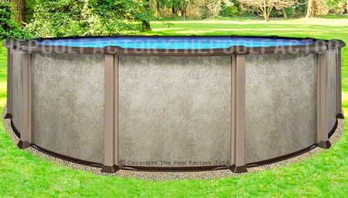 "24 Round 54"" Saltwater Lx Above Ground Salt Swimming Pool With 25 Gauge Liner"