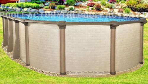 "15x30 Oval 54"" High Melenia Above Ground Swimming Pool With 25 Gauge Liner"