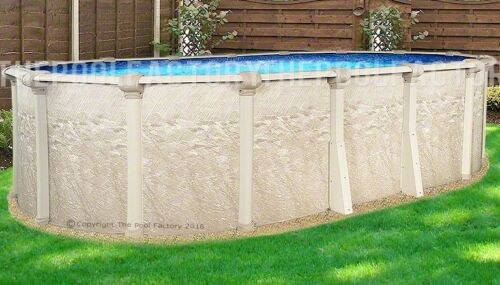 """18x33 Oval 52"""" High Cameo Above Ground Swimming Pool With 25 Gauge Liner"""