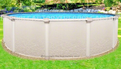 "15x52"" Round Saltwater 5000 Above Ground Salt Swimming Pool With 25 Gauge Liner"