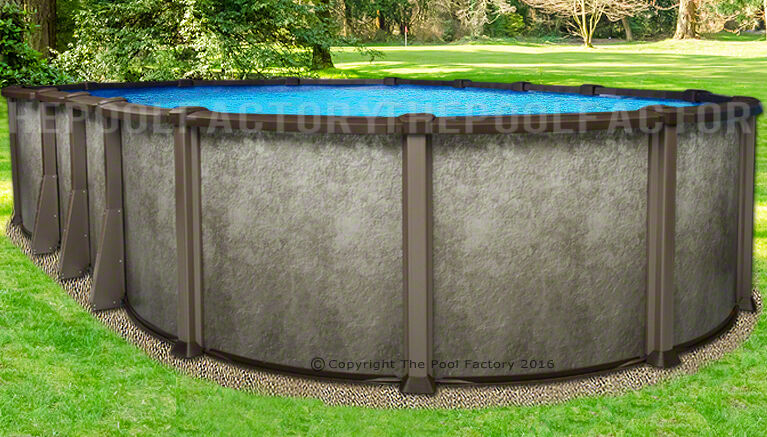 "15x30 Oval 54"" Saltwater Lx Above Ground Salt Swimming Pool With 25 Gauge Liner"