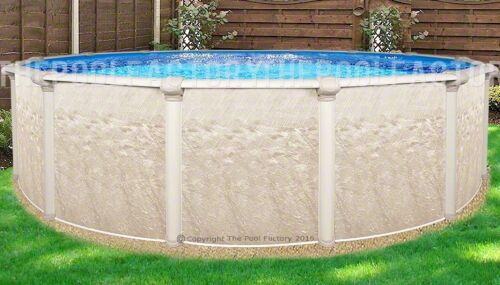 """15 Round 52"""" High Cameo Above Ground Swimming Pool With 25 Gauge Liner"""