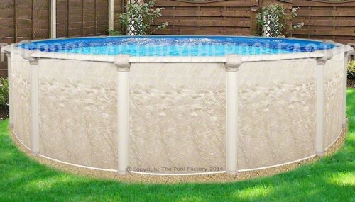 "21 Round 52"" High Cameo Above Ground Swimming Pool With 25 Gauge Liner"