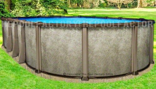 """12x24 Oval 54"""" Saltwater LX Above Ground Salt Swimming Pool with 25 Gauge Liner"""
