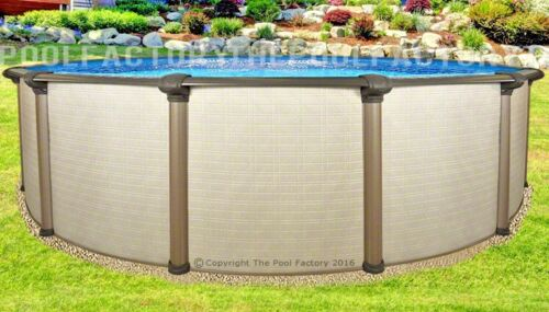 "27x54"" Melenia Round Above Ground Swimming Pool With 25 Gauge Liner"