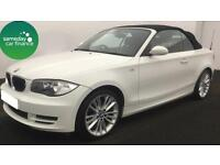 £180.50 PER MONTH WHITE 2009 BMW 118i 2.0 SE STEP CONVERTIBLE