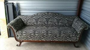 Duncan Phyfe zebra couch