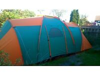 9 man tent for sale. Good condition. Plus 15 metre single socket electric hook up.