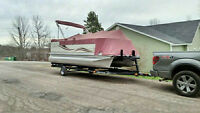 2008 AVALON WINDJAMMER 18.5FT PONTOON BOAT PACKAGE