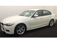 Alpine White BMW 325 2.0TD 2014 d M Sport FROM £67 PER WEEK!