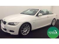 £303.96 PER MONTH WHITE 2010 BMW 330D 3.0 M SPORT CONVERTIBLE DIESEL AUTO