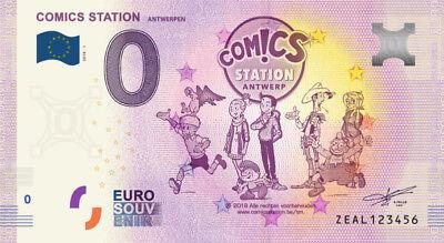 Billet Touristique 0 Euro --- Antwerpen, Comics station - 2018-1