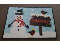 """Small 24"""" x 16"""" Snowman Mat BX33"""