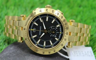 Versace - Mens V Ray - Swiss Made Gold Plated Watch